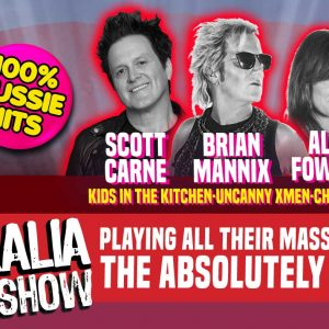 Made in Australia Absolutely 80s show. Scott Carne, Brian Mannix, Ally Fowler and Wilbur Wilde